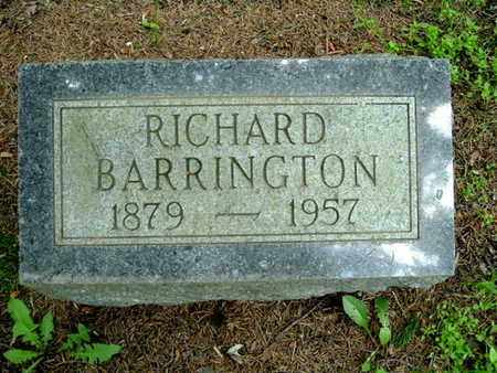 BARRINGTON, RICHARD - Calhoun County, Michigan | RICHARD BARRINGTON - Michigan Gravestone Photos