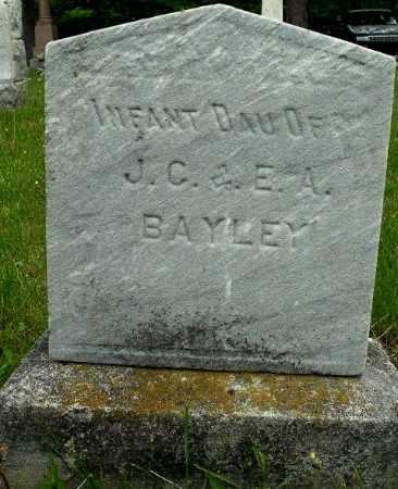 BAYLEY, INFANT DAUGHTER - Calhoun County, Michigan | INFANT DAUGHTER BAYLEY - Michigan Gravestone Photos