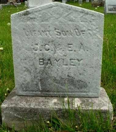 BAYLEY, INFANT SON - Calhoun County, Michigan | INFANT SON BAYLEY - Michigan Gravestone Photos
