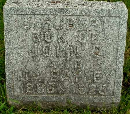 BAYLEY, JOHN HUBERT - Calhoun County, Michigan   JOHN HUBERT BAYLEY - Michigan Gravestone Photos