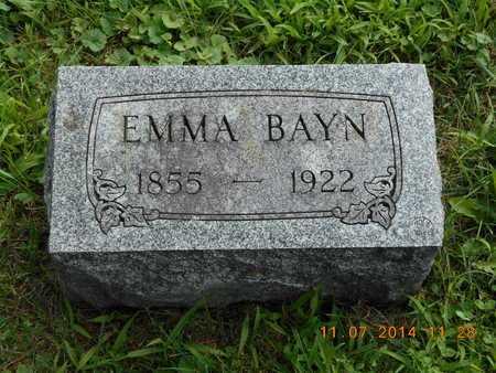 BAYN, EMMA - Calhoun County, Michigan | EMMA BAYN - Michigan Gravestone Photos