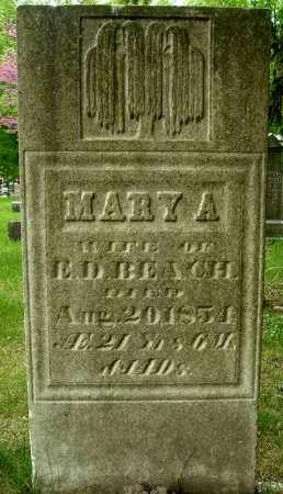 BEACH, MARY A - Calhoun County, Michigan | MARY A BEACH - Michigan Gravestone Photos
