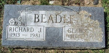 BEADLE, RICHARD J - Calhoun County, Michigan | RICHARD J BEADLE - Michigan Gravestone Photos
