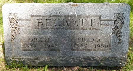 BECKETT, FRED A - Calhoun County, Michigan | FRED A BECKETT - Michigan Gravestone Photos