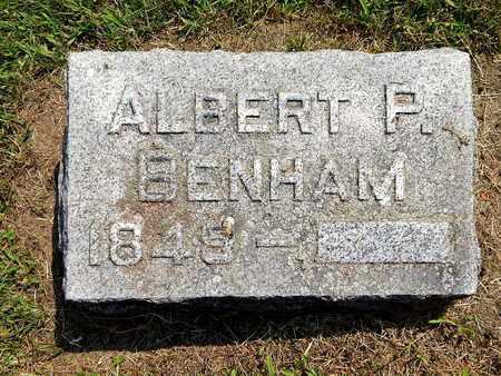 BENHAM, ALBERT P. - Calhoun County, Michigan | ALBERT P. BENHAM - Michigan Gravestone Photos