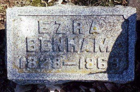 BENHAM, EZRA - Calhoun County, Michigan | EZRA BENHAM - Michigan Gravestone Photos