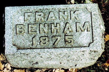 BENHAM, FRANK - Calhoun County, Michigan | FRANK BENHAM - Michigan Gravestone Photos
