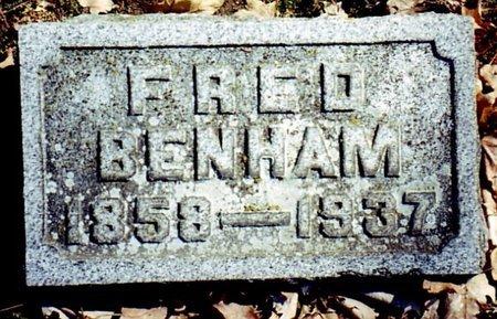 BENHAM, FRED - Calhoun County, Michigan | FRED BENHAM - Michigan Gravestone Photos