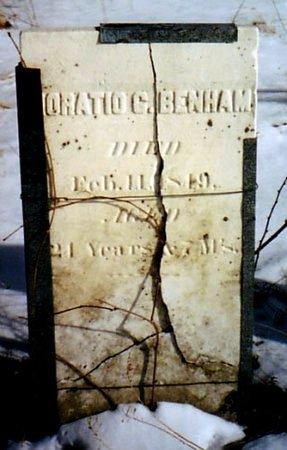 BENHAM, HORATIO C. - Calhoun County, Michigan | HORATIO C. BENHAM - Michigan Gravestone Photos