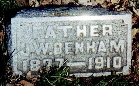 BENHAM, JAMES W. - Calhoun County, Michigan | JAMES W. BENHAM - Michigan Gravestone Photos
