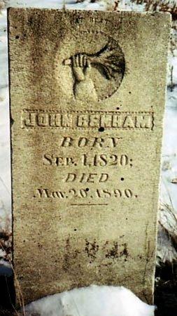 BENHAM, JOHN - Calhoun County, Michigan   JOHN BENHAM - Michigan Gravestone Photos