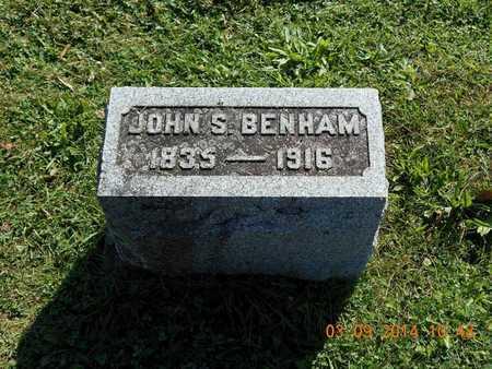 BENHAM, JOHN S. - Calhoun County, Michigan | JOHN S. BENHAM - Michigan Gravestone Photos