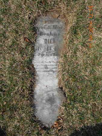 BENHAM, LITTLE GIRL - Calhoun County, Michigan   LITTLE GIRL BENHAM - Michigan Gravestone Photos