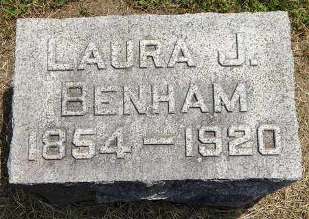 BENHAM, LAURA J - Calhoun County, Michigan | LAURA J BENHAM - Michigan Gravestone Photos