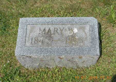 BENHAM, MARY W. - Calhoun County, Michigan | MARY W. BENHAM - Michigan Gravestone Photos