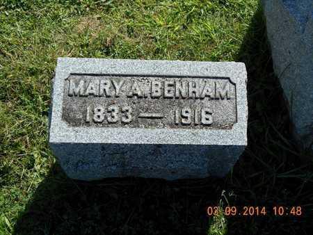 BENHAM, MARY A. - Calhoun County, Michigan | MARY A. BENHAM - Michigan Gravestone Photos