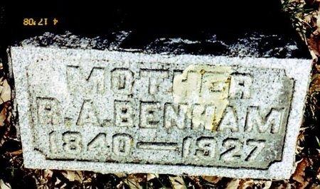 BENHAM, RUTH A. - Calhoun County, Michigan | RUTH A. BENHAM - Michigan Gravestone Photos