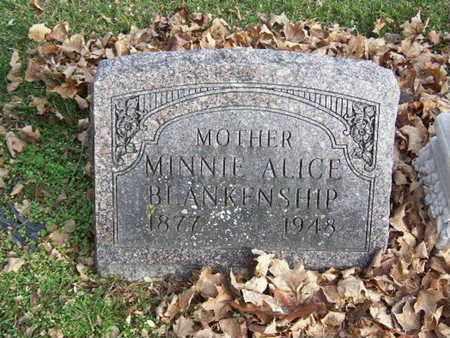 BLANKENSHIP, MINNIE ALICE - Calhoun County, Michigan   MINNIE ALICE BLANKENSHIP - Michigan Gravestone Photos