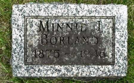 BORLAND, MINNIE J - Calhoun County, Michigan | MINNIE J BORLAND - Michigan Gravestone Photos