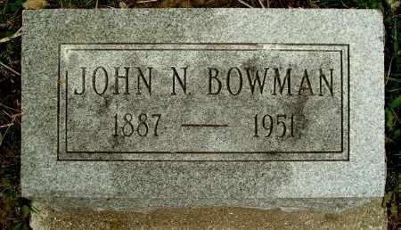 BOWMAN, JOHN N - Calhoun County, Michigan | JOHN N BOWMAN - Michigan Gravestone Photos