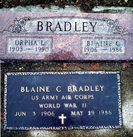 BRADLEY, BLAINE C. - Calhoun County, Michigan   BLAINE C. BRADLEY - Michigan Gravestone Photos