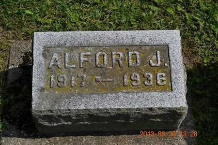 BREWER, ALFORD J. - Calhoun County, Michigan | ALFORD J. BREWER - Michigan Gravestone Photos