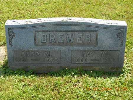BREWER, ANNA M. - Calhoun County, Michigan | ANNA M. BREWER - Michigan Gravestone Photos