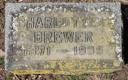 BREWER, CHARLOTTE - Calhoun County, Michigan | CHARLOTTE BREWER - Michigan Gravestone Photos