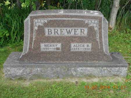 BREWER, HENRY - Calhoun County, Michigan | HENRY BREWER - Michigan Gravestone Photos