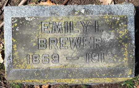 BREWER, EMILY I - Calhoun County, Michigan | EMILY I BREWER - Michigan Gravestone Photos