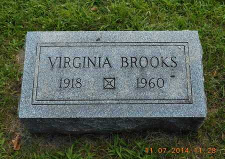 BROOKS, VIRGINIA - Calhoun County, Michigan | VIRGINIA BROOKS - Michigan Gravestone Photos