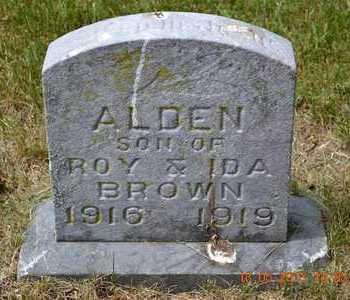 BROWN, ALDEN - Calhoun County, Michigan   ALDEN BROWN - Michigan Gravestone Photos