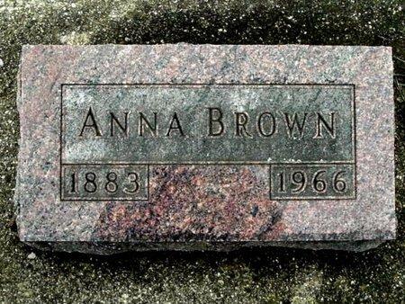 BROWN, ANNA - Calhoun County, Michigan | ANNA BROWN - Michigan Gravestone Photos
