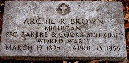BROWN, ARCHIE R. - Calhoun County, Michigan | ARCHIE R. BROWN - Michigan Gravestone Photos
