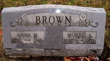 BROWN, ANNA M. - Calhoun County, Michigan | ANNA M. BROWN - Michigan Gravestone Photos