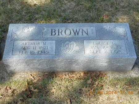BROWN, ARTHUR M. - Calhoun County, Michigan   ARTHUR M. BROWN - Michigan Gravestone Photos