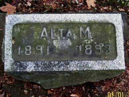 BROWN, ALTA M - Calhoun County, Michigan | ALTA M BROWN - Michigan Gravestone Photos
