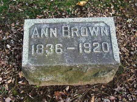 BROWN, ANN - Calhoun County, Michigan | ANN BROWN - Michigan Gravestone Photos
