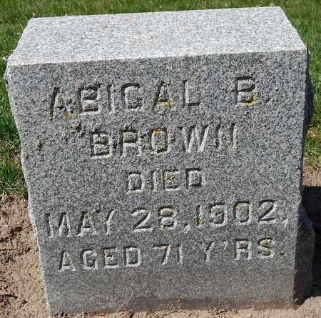 BROWN, ABIGAL B - Calhoun County, Michigan   ABIGAL B BROWN - Michigan Gravestone Photos