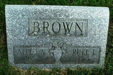 BROWN, RUEL L - Calhoun County, Michigan | RUEL L BROWN - Michigan Gravestone Photos
