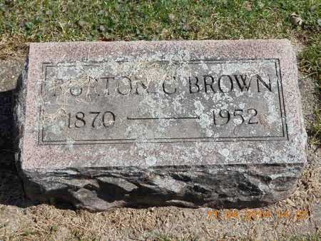 BROWN, BURTON C. - Calhoun County, Michigan | BURTON C. BROWN - Michigan Gravestone Photos