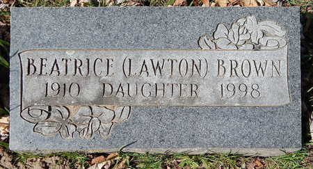 BROWN, BEATRICE (LAWTON) - Calhoun County, Michigan | BEATRICE (LAWTON) BROWN - Michigan Gravestone Photos