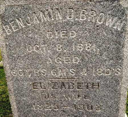 BROWN, BENJAMIN D & ELIZABETH - CLOSE UP - Calhoun County, Michigan | BENJAMIN D & ELIZABETH - CLOSE UP BROWN - Michigan Gravestone Photos