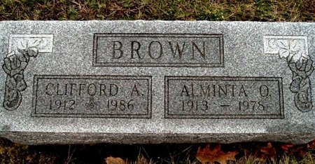 BROWN, ALMINTA - Calhoun County, Michigan | ALMINTA BROWN - Michigan Gravestone Photos