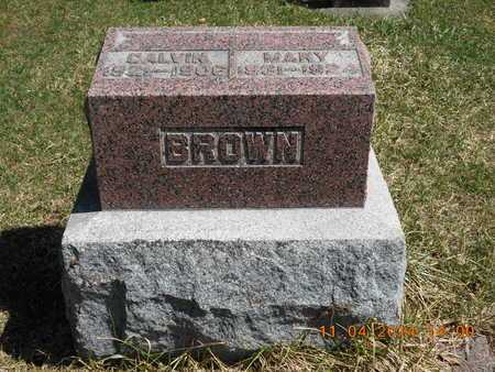 BROWN, MARY - Calhoun County, Michigan | MARY BROWN - Michigan Gravestone Photos