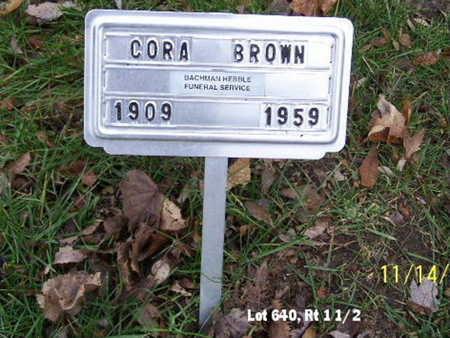 BROWN, CORA - Calhoun County, Michigan   CORA BROWN - Michigan Gravestone Photos