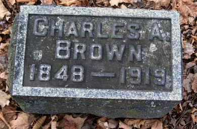BROWN, CHARLES A - Calhoun County, Michigan | CHARLES A BROWN - Michigan Gravestone Photos