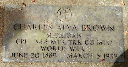 BROWN, CHARLES ALVA - Calhoun County, Michigan | CHARLES ALVA BROWN - Michigan Gravestone Photos