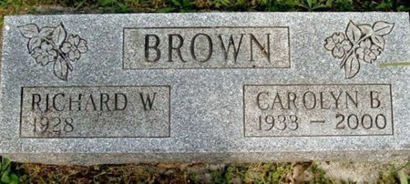 BROWN, CAROLYN B - Calhoun County, Michigan   CAROLYN B BROWN - Michigan Gravestone Photos