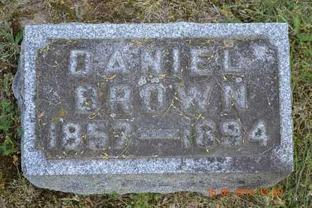 BROWN, DANIEL - Calhoun County, Michigan | DANIEL BROWN - Michigan Gravestone Photos